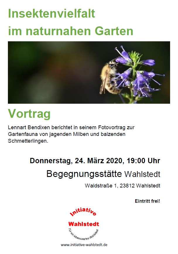 """Vortrag """"Insektenvielfalt im naturnahen Garten"""""""